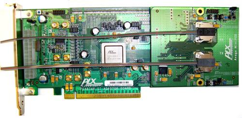 本文提出的概念验证展示的电路板(图4)包含内建四十八通道pcie g